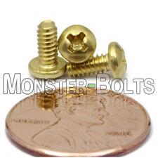 "#4-40 - Brass Phillips Pan Head Machine Screws Sae - 1/4"" 3/8"" 1/2"" 3/4"" 7/8"" 1"""