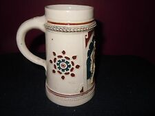 ANTIQUE GERMAN CERAMIC DECORATIVE BEER STEIN  1/2L GERMANY