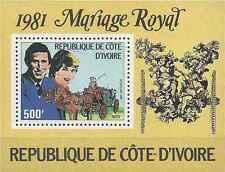 Timbre Personnages Lady Diana Cote d'Ivoire BF21 ** lot 17166