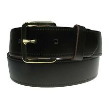 "Cheap Mens Gold Buckle Belt Made In UK Only XXL 44""-50"" Size Trousers And Jeans"