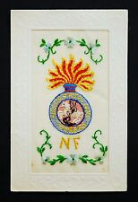 WW1 Silk Postcard The Royal Northumberland Fusiliers Regiment