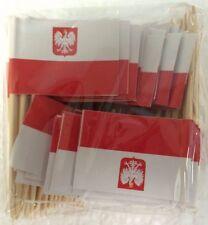 "100 Polish Poland Mini 2.5"" Flag Appetizer & Party Decoration Picks Toothpicks"