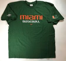 Vintage Miami Hurricanes Team Issued Baseball Practice TShirt Green Size XXL New