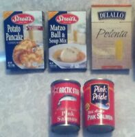 5pc SURVIVAL STORAGE Food Pink Salmon Streits Matzo Soup Potato Latkes Polenta
