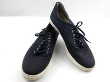 SeaVees Mens Sneakers 10 Slate Navy Casual Lace-Up Hermosa Plimsoll Canvas Shoes