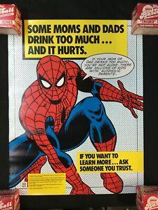 "1987 SPIDER-MAN NACoA PSA 17x22"" Poster FVF 7.0 Alcoholism"