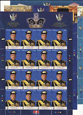 Malaysia 2015 Installation of Sultan Johor full sheet MNH