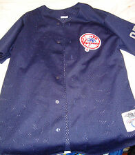majestic NEW YORK Yankees Alex RODRIGUEZ 22 Jersey Size M AROD Blue Poly Button