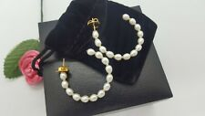 Cultured freshwater pearl hoop earrings 14K gold-plated Sterling Silver - Macy's