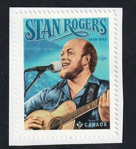 Canada 2021 Folksinger Stan Rogers, MNH 'P' single from booklet