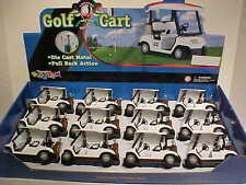 12 Pack of Golf Carts Die-cast 1:24 Kinsmart 5 inch with Golf bags RED and GREEN