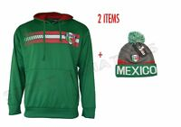 Mexico Hoodie and Beanie Soccer adult Mens Fleece Sweatshirt Jacket new Season