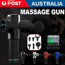 Massage Gun Deep Tissue Percussion Massager Muscle Vibrating Relaxing 6 Heads XI