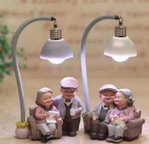 Creative Couple Night Light Ornaments valentine Gift Home Decor Romantic Resin