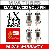 New Matched Quad Reissue Genalex Gold Lion 12AX7 / ECC83/B759 GOLD PIN Tubes SH