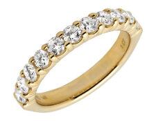 14K Yellow Gold 1 Row Shared Prong Genuine Diamond Engagement Ring 1ct