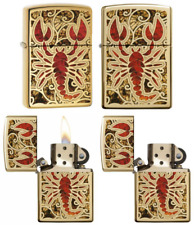 Zippo Scorpion Shell Regular Lighter - High Polish Brass