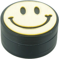 """2"""" Smily Face Grinder 3 Piece Tobacco Herb Spice Crusher"""