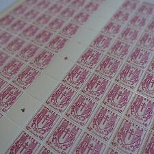 FEUILLE SHEET TIMBRE CHAINES BRISÉES N°672 x100 1945 NEUF ** LUXE MNH