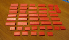 LEGO  LOT  46  RED  ROOF TOP BRICKS  2X4  2X2  PARTS  CITY CASTLE