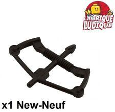 Lego - 1x minifig arme weapon arc flèche corde bow arrow noir/black 10258 NEUF