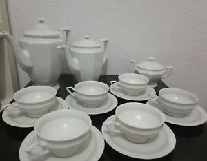 Maria Theresia Kaffee Service Classic Rose Rosenthal 6 Personen weiß