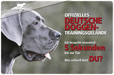 ! DEUTSCHE DOGGE ! Metall Warnschild .11