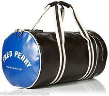 Fred Perry Classic Barrel Shoulder School Gym Work Bag Original L4305 Brown/Blue