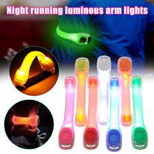 LED Light Up Armband Adjustable Wearable Running Arm Belt Glow in The Dark Safe