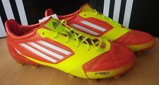 Adidas F50 ADIZERO TRX FG LEDER UK 9 EU 43 1/3 gelb/rot Fußballschuh LEA NEU OVP