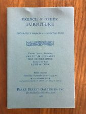 French & Other Furniture Parke Bernet Auction Catalog Sept 30 1967