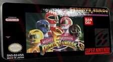 Mighty Morphin Power Rangers SNES Replacement Label:HQ:Glossy Vinyl Sticker