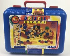 Bristle Blocks Building Toys People & Animal Figures In A Carry Case