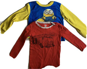 Minions Pajama Top Long Sleeve And Additional Red Shirt  Size 4T