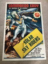 VINTAGE MOVIE POSTER ORIG COMMANDO CODY SOLAR SKY RIDERS 1953 SPACEMAN MARSHAL