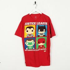 Vintage DC UNIVERSE Justice League Graphic T Shirt Tee Red | Large L