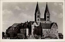 Quedlinburg Harz Sachsen-Anhalt ~1940 alte s/w Postkarte Partie an der Kirche