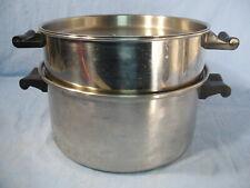 Vintage 5 Qt Saladmaster Stock Pot 18-8 Tri-clad Double Boiler Vent Lid