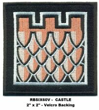 RAINBOW SIX CASTLE PATCH WITH HOOK BACKING  - RBSIX60V