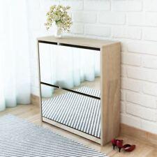 Vidaxl mueble Zapatero 2 capas con espejo blanco 63x17x67 cm organizador