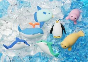 Novelty Japanese IWAKO Puzzle Eraser Rubbers - IWAKO Marine Animal Erasers