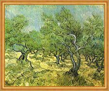 Olivenhain Wäldchen Wald Bäume Impressionismus LW Vincent van Gogh A2 044