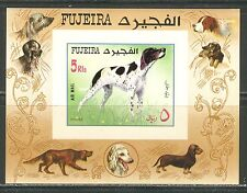 DOGS: POINTER ON FUJEIRA UNITED ARAB EMIRATES 1970 Michel Bl. 38B IMPERF. MNH