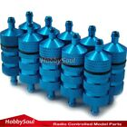 10pcs 36mm 1/8 1/10 Alum Blue Fuel Filter wholesale For RC Nitro On-Road Buggy