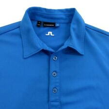 J Lindeberg Mens Golf Polo Shirt Size M Short Sleeve Blue