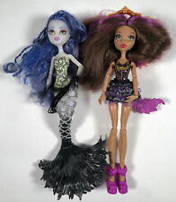 Monster High Dolls Lot Freaky Fusion Siren Boo + Ghoul To Wolf Clawdeen Set Of 2