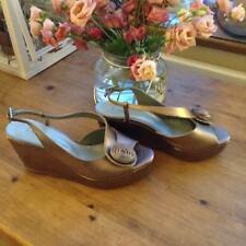 Fiona McGuiness Sandals Bronze Metallic Leather wedge size 4