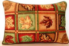 Fall - Assorted Leaves & Colors, Twelve Blocks, Tapestry Pillow New