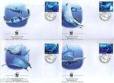 Gibraltar 2006 WWF Giant Devil Ray Fish Marine Life Animal Sc 1037 Set of 4 FDCs
