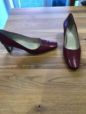 Carvela Size 6 (39) Red Leather Heel Court Shoes